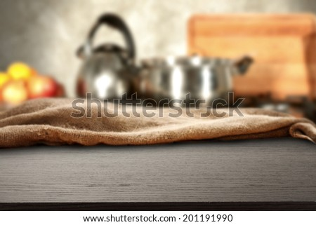 desk of black and pots  - stock photo
