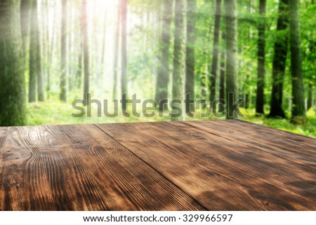 desk top and forest