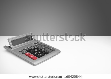 desk top calculator - stock photo