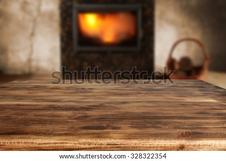 desk top place and fire  - stock photo