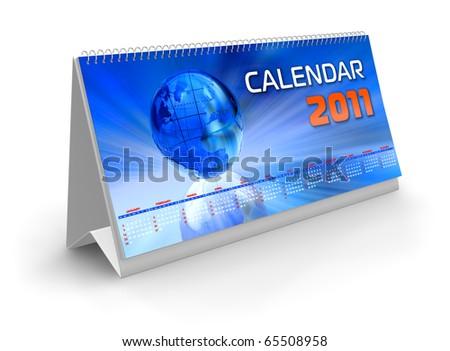 Desktop calendar 2011 - stock photo