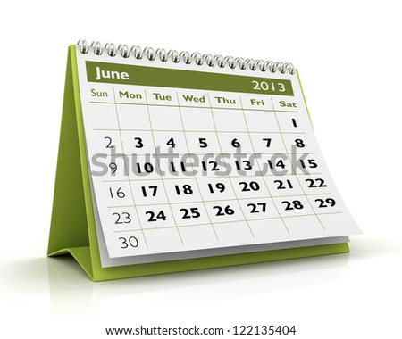 desktop calendar February 2013 in white background - stock photo