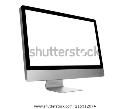 Desktop computer on withe background - stock photo