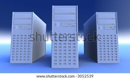 Desktop Computers - stock photo