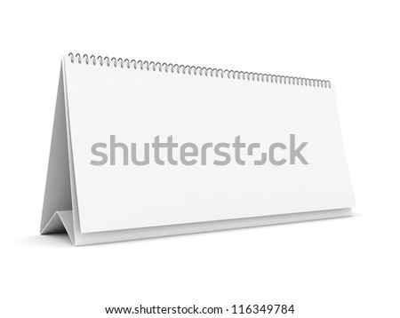 desktop notebook isolated on white background