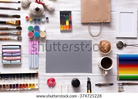 Artist Desk Top View