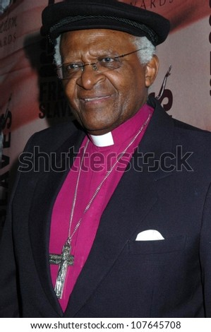Desmond Tutu  at the 2008 Freedom Awards. University of Southern California, Los Angeles, CA. 09-15-08 - stock photo