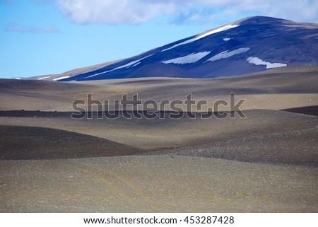 Desolate Iceland - stock photo