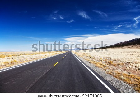 Desolate Road - stock photo