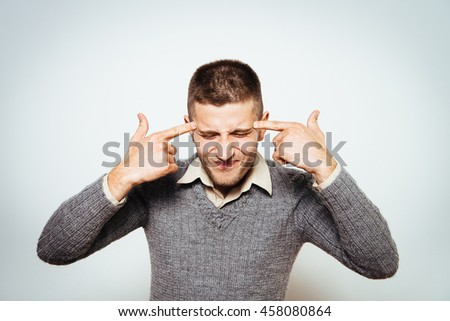Despair man - stock photo