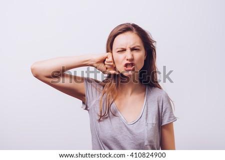 Despair woman - stock photo