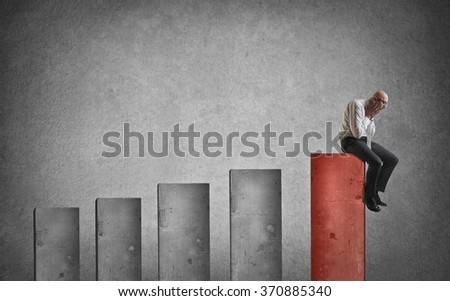 Desperate employee - stock photo