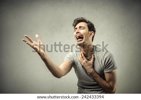 Desperate man  - stock photo