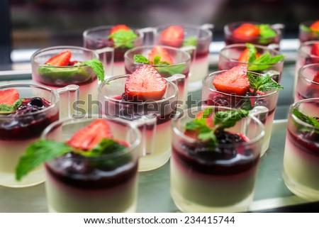 Dessert canape - stock photo