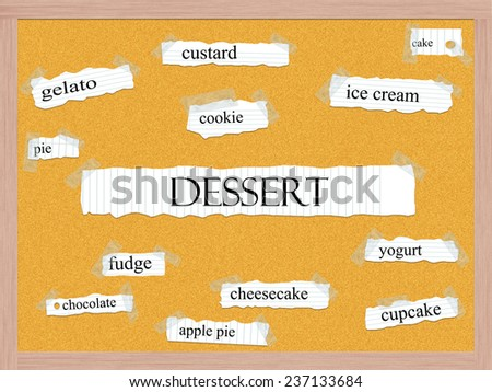 ... Word Concept with great terms such as custard, gelato, cake and more