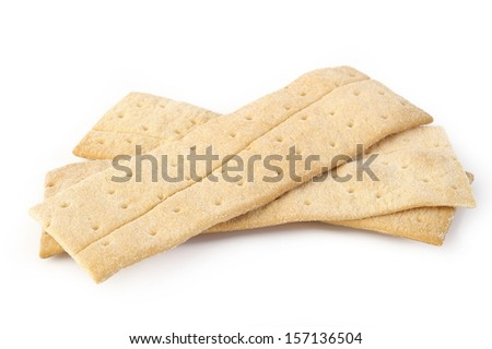 dessert cracker honey on white background