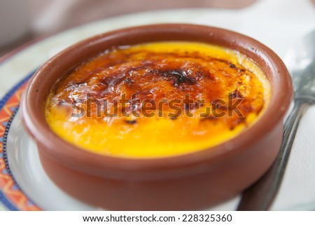 Dessert - creme brulee - stock photo