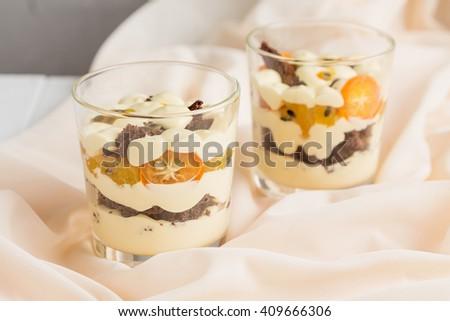 Dessert Glass Passion Fruit Kumquat Vanilla Stock Photo 409666306 ...