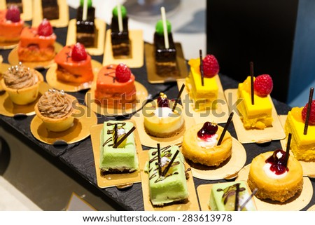 Dessert in restaurant - stock photo