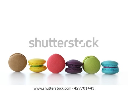 Dessert Macaroon, white background. Used for background