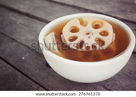 Dessert of lotus root  - stock photo