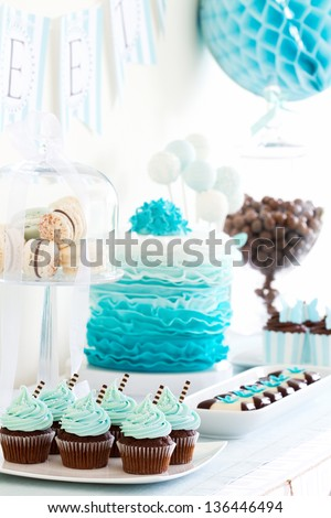 Dessert table - stock photo