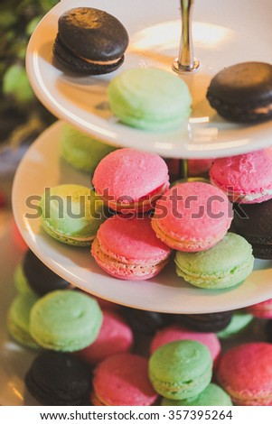 Dessert table. Candy bar - stock photo