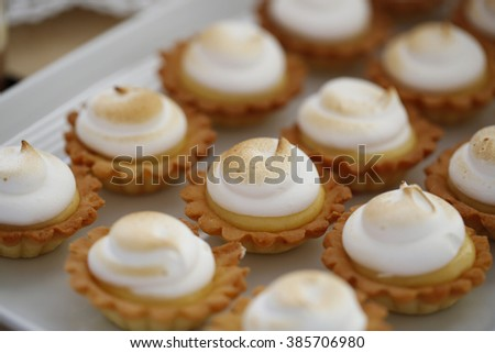 Dessert table for a wedding party - stock photo