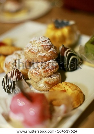 Dessert tray - stock photo