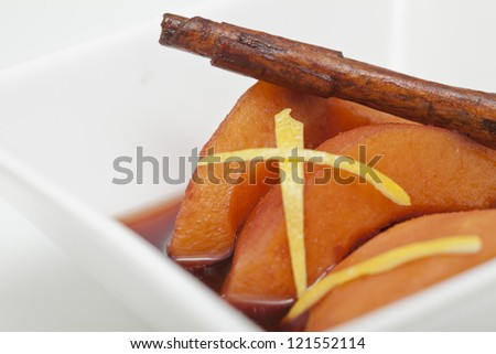 Dessert with quinces - stock photo