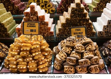 Desserts in Grand Bazaar in Istanbul - stock photo