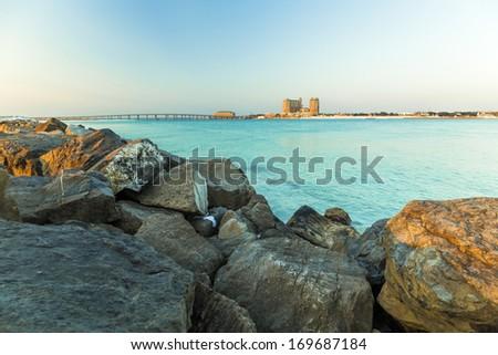 Destin Harbor View  - stock photo