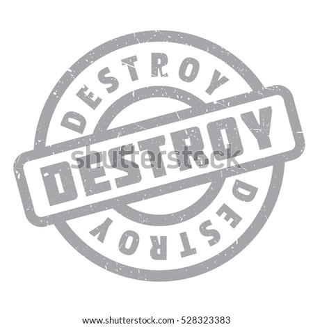 Destroy rubber stamp. Grunge design with dust scratches. Effects can be easily removed for a clean, crisp look. Color is easily changed.