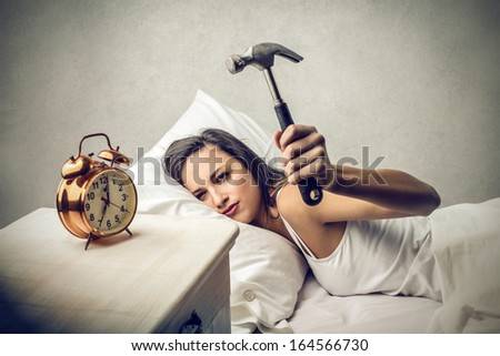 Destroy the Clock - stock photo