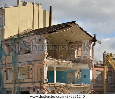 destroyed - stock photo