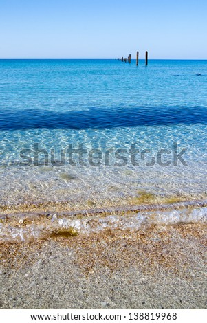 Destroyed elling in Black sea - stock photo