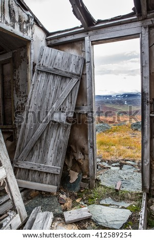 destroyed Home - stock photo