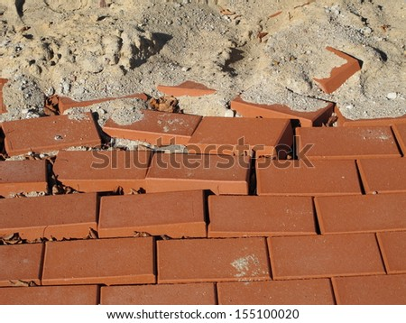 Destroyed pavement  - stock photo