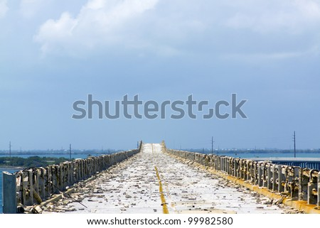 Destroyed Road - stock photo