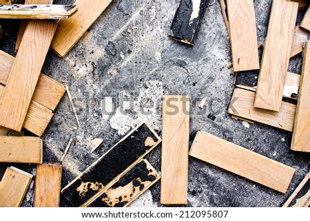 Destroyed wooden parquet texture.