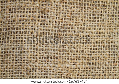 Detail and pattern of sack texture - stock photo