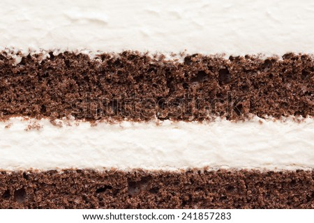 detail and texture of mousse and chocolate cake layer