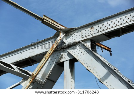 Detail assemblies of steel bridge.