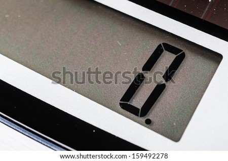 Detail calculator - stock photo