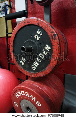 Detail from a Health Club - stock photo