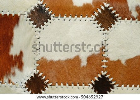 detail from cow skin rug