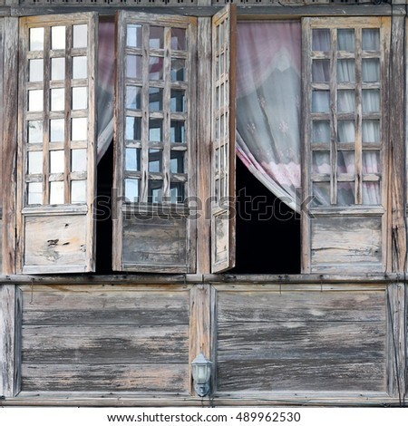 Detail from Old wooden house