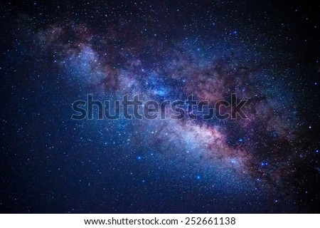 detail from the milky way - stock photo