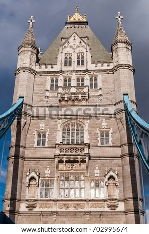 Detail from Tower Bridge in London, United Kingdom
