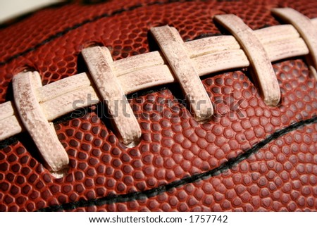 Detail of a american football - stock photo